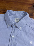 Washed Cotton Premium Oxford Button Down in Light Blue