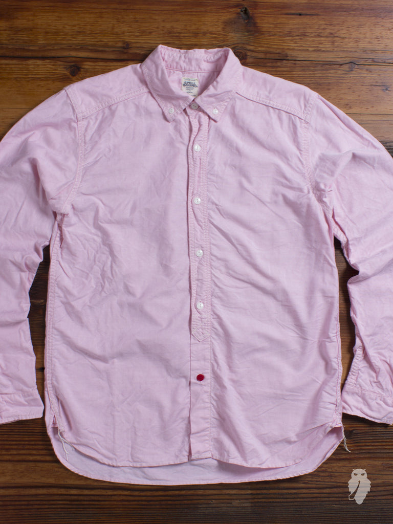 Washed Cotton Premium Oxford Button Down in Pink