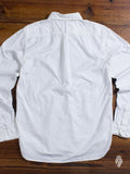 Washed Cotton Premium Oxford Button Down in Off White