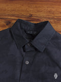 """Tiger Spruce"" Camouflage Button Up Shirt in Black"