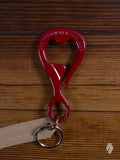 """Bottle Opener"" Key Hook in Red Powdercoat"