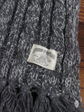 Low Gauge Knit Scarf in Speckled Slate