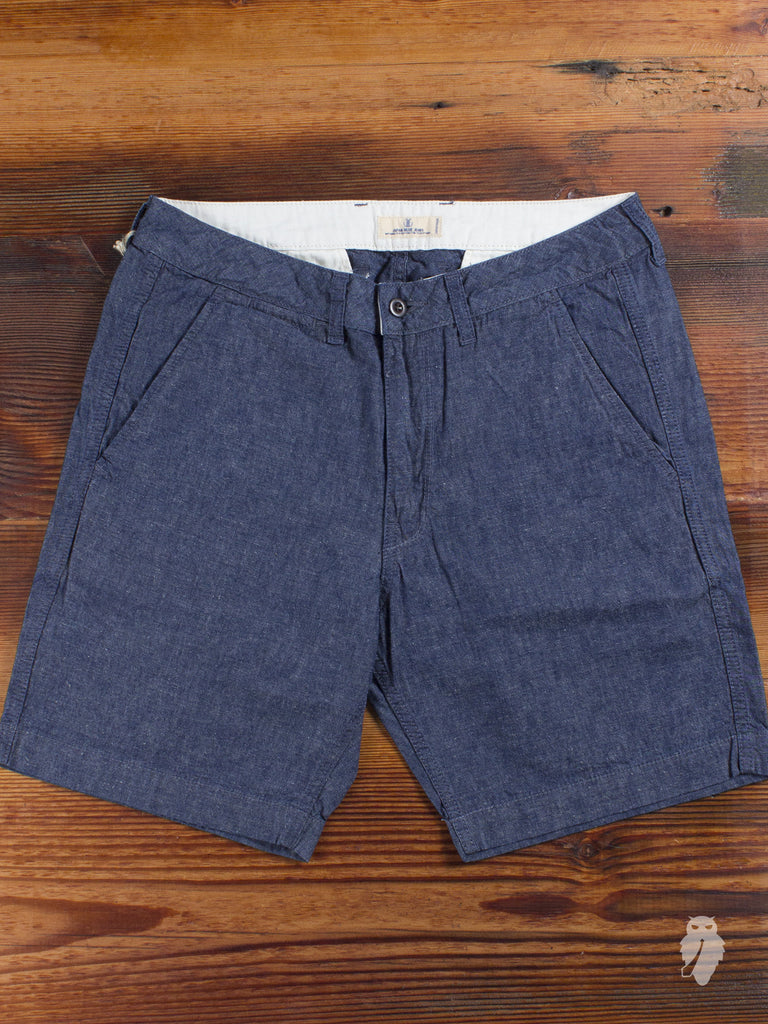 Chambray Shorts in Indigo