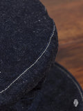 Unstructured Denim/Leather Engineer Cap