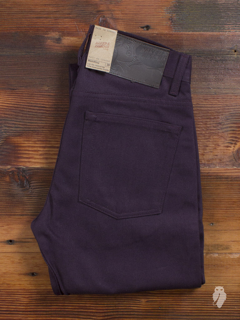 13oz Selvedge Chino in Wine - Weird Guy Fit
