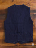 "04-010 ""Sashiko"" Vest in Natural Indigo"