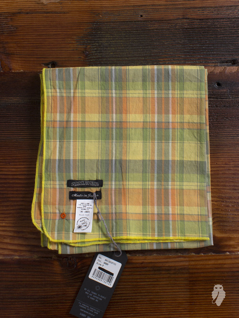 """Madras Check"" Scarf in Yellow"