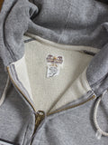 """French Terry"" Zip-up Hoodie in Two Tone"