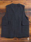 """Hunting Vest"" in Melton Wool"
