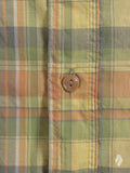 """Madras Check"" Button-Up Shirt in Yellow"
