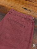 JB5100 Selvedge Denim Shorts in Red