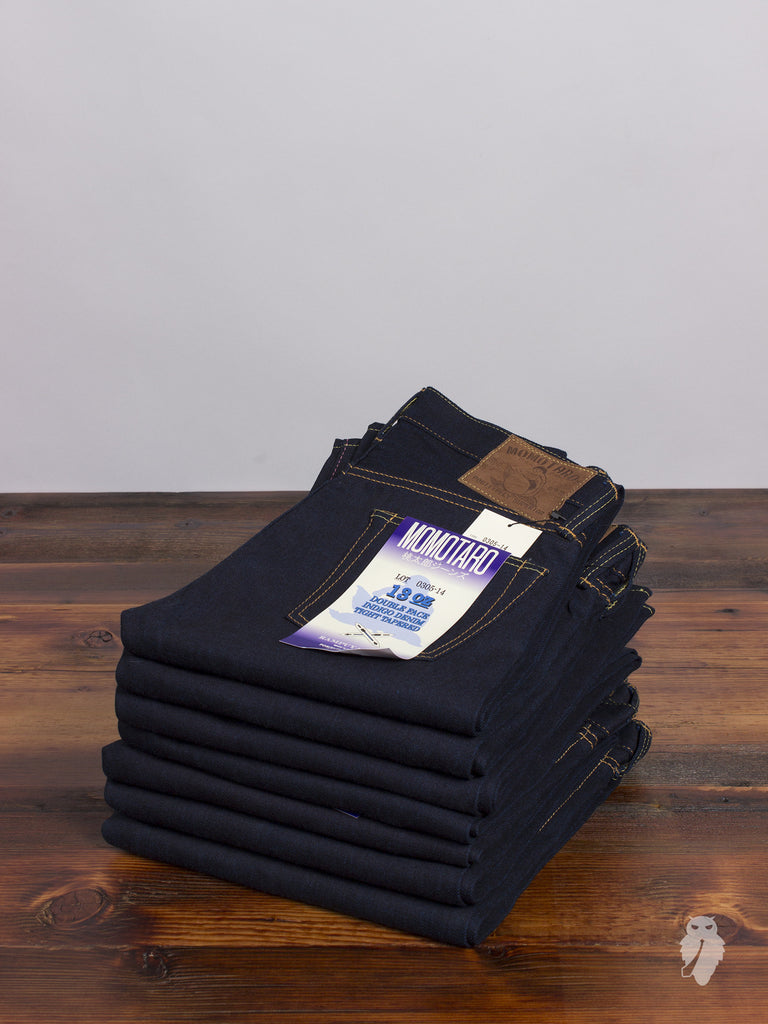"0305-14 ""Cobalt Blue Weft"" 13oz Selvedge Denim - Tight Tapered Fit"
