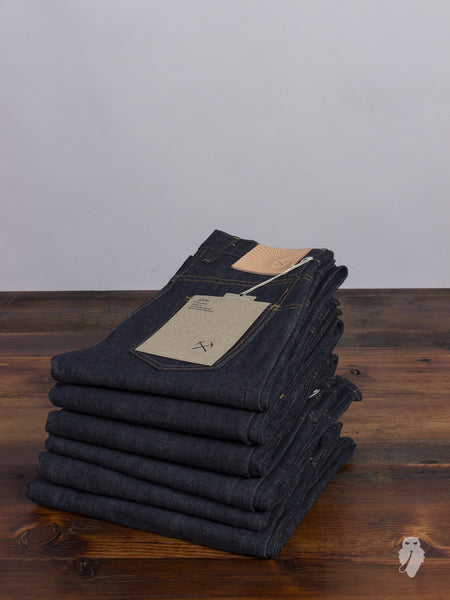 "SL-100xk ""Kibata"" 14.5oz Unsanforized Selvedge Denim - Slim Straight Fit"