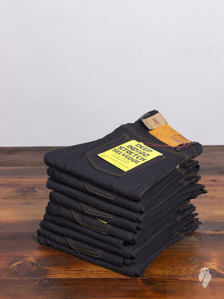 """Deep Indigo Stretch"" 11.5oz Selvedge Denim - Skinny Guy Fit"