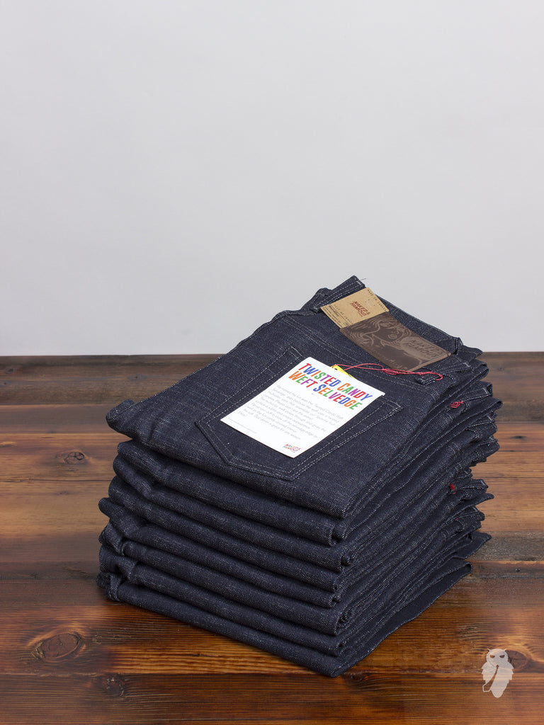 """Twisted Candy Weft"" 13oz Selvedge Denim - Weird Guy Fit"