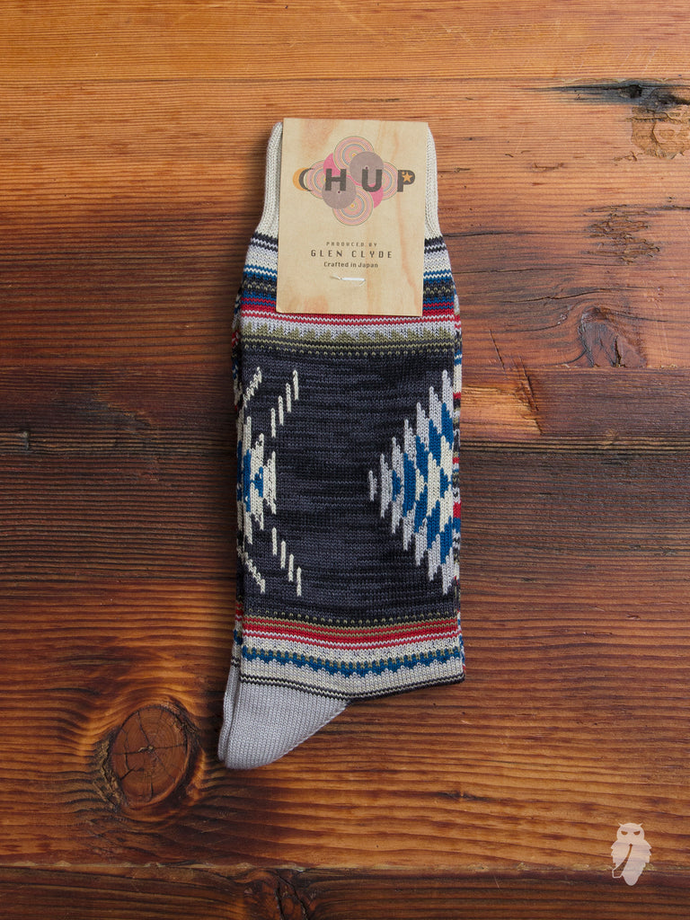 Churro Sock in Charcoal