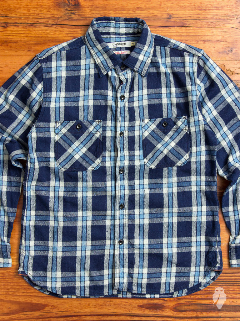 Heavyweight Nep Work Shirt in Indigo