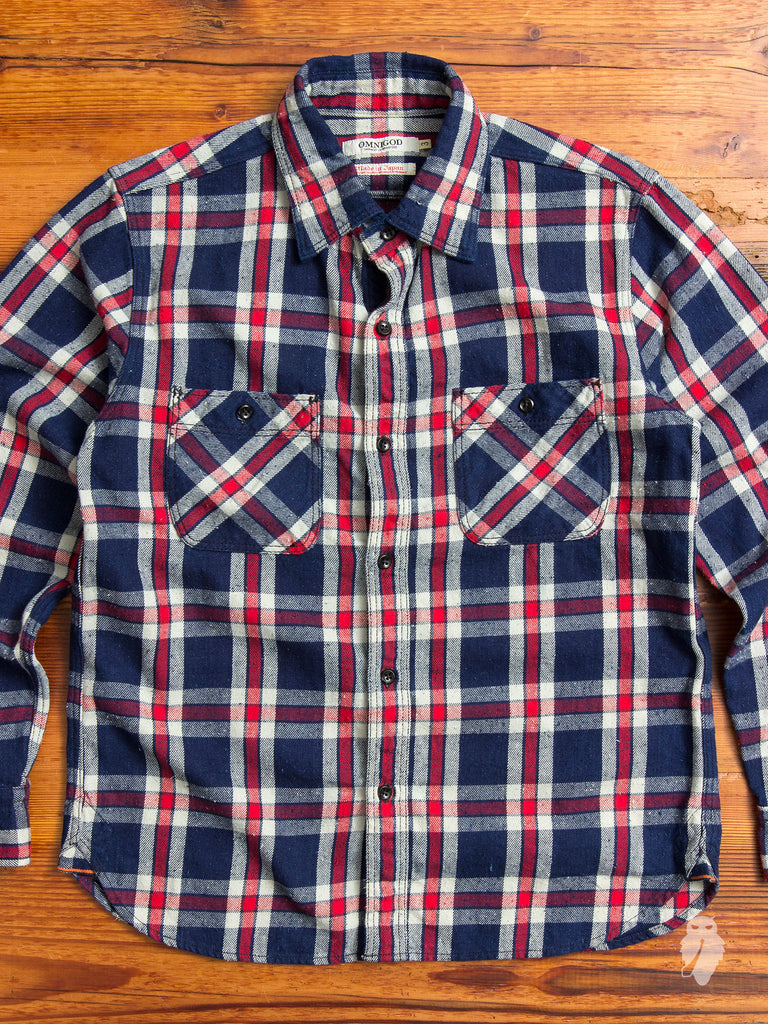 Heavyweight Nep Work Shirt in Red