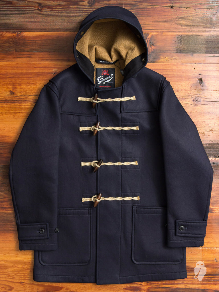 """Gloverall x SPELLBOUND"" Denim Duffle Coat in Indigo"