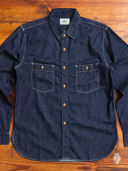 6oz Denim Long Sleeve Work Shirt