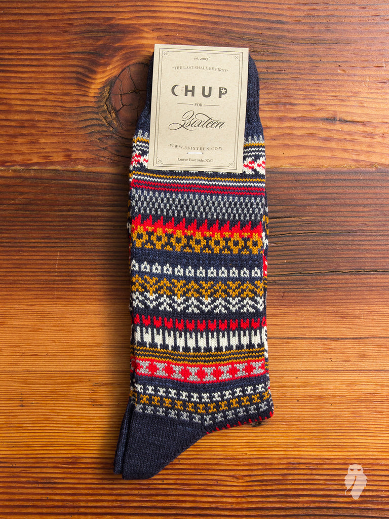 """3sixteen x CHUP"" Socks in Navy"