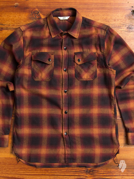 Crosscut Flannel in Orange Ombre