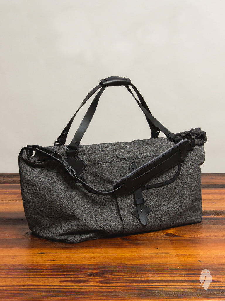 """Nomad Duffle"" in Black Salt & Pepper"