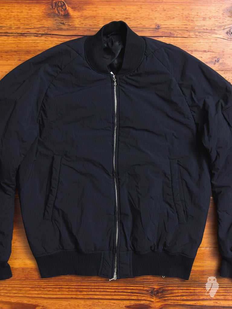Taffeta MA-1 Jacket in Black