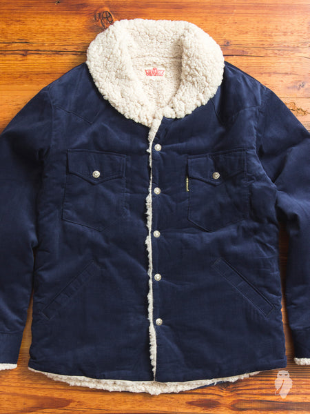 Corduroy Ranch Jacket in Navy