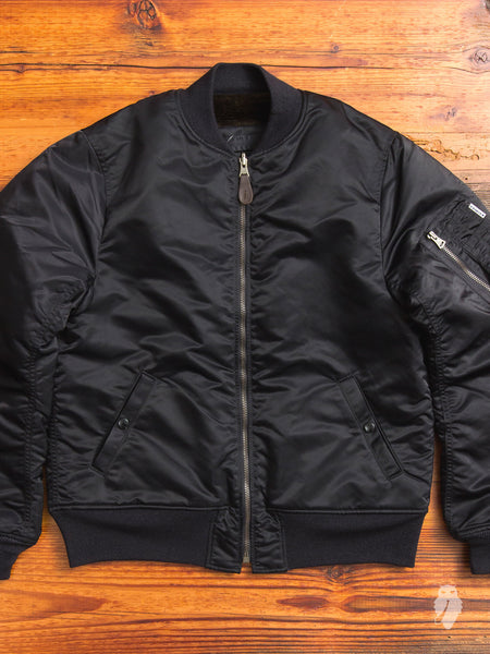 Reversible MA-1 Flight Jacket in Black