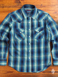 Heavyweight Indigo Western Shirt in Blue
