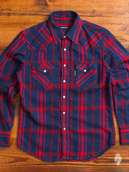 Heavyweight Indigo Western Shirt in Red