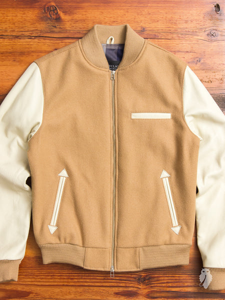Bomber Jacket in Camel