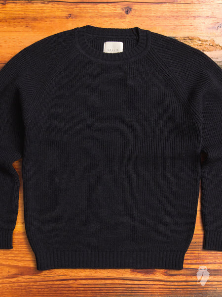 Alpaca Crewneck Sweater in Black