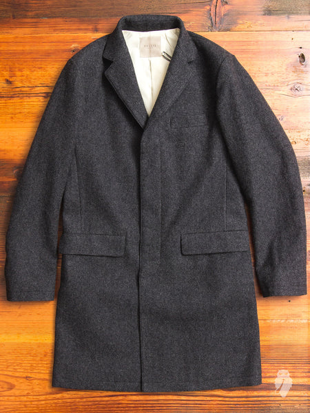 Wool Chesterfield Coat in Charcoal