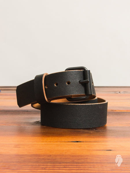 """Wenatchee Belt"" in Rough-Out Black Horse Hide"
