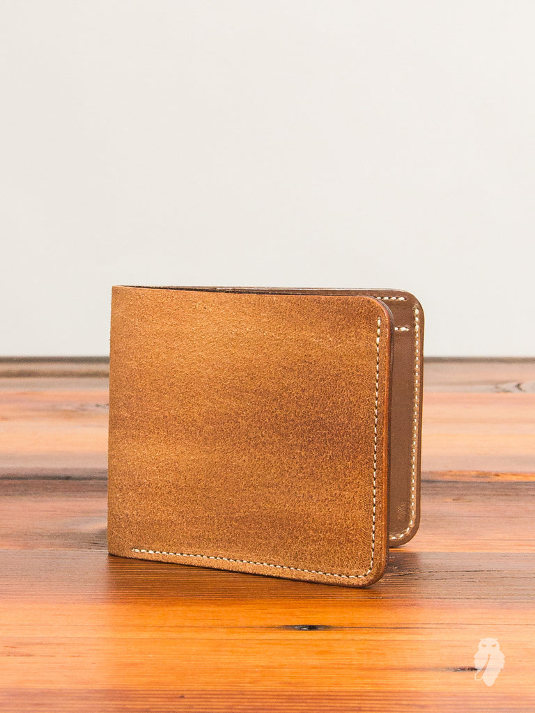 Bifold Wallet in Rough-Out Natural Horse Hide