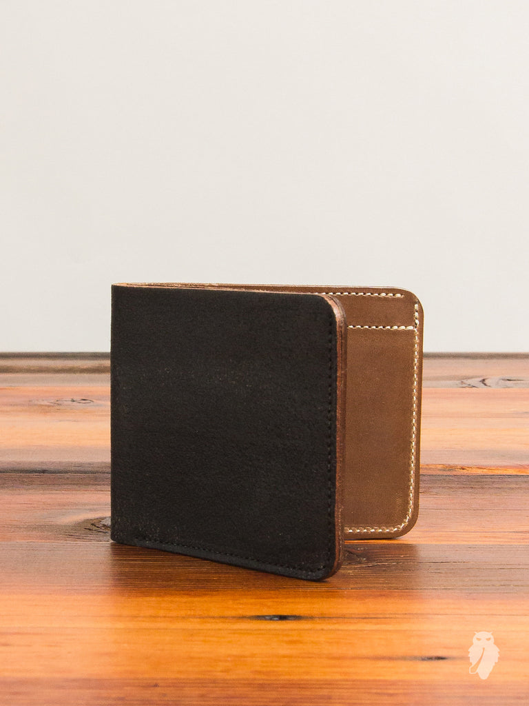 Bifold Wallet in Rough-Out Black Horse Hide