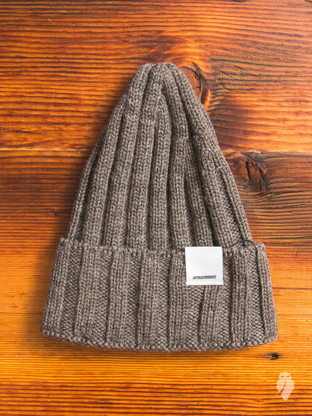 Wool Beanie in Grey