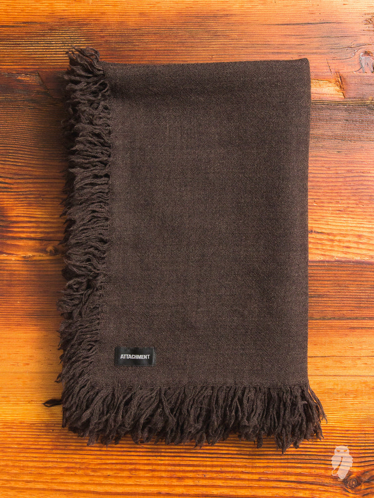 Wool Fringe Scarf in Taupe
