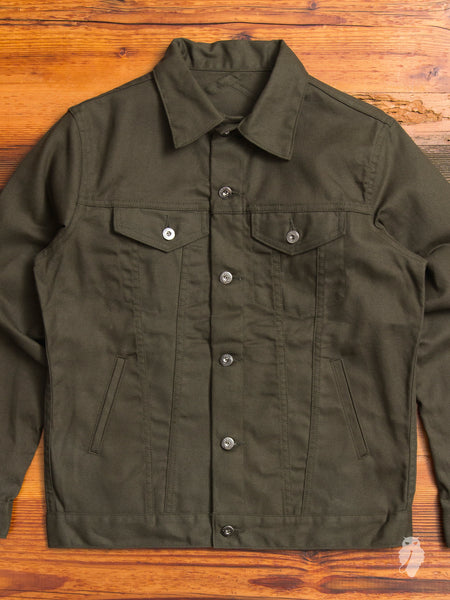 Modified Type-3 Duck Canvas Jacket in Olive
