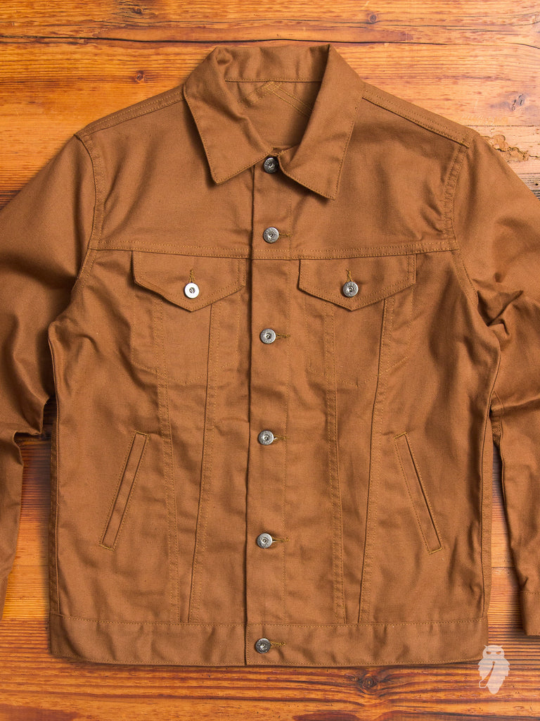 Modified Type-3 Duck Canvas Jacket in Orange