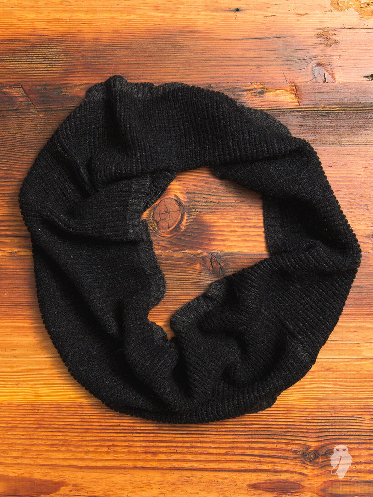 Mohair Infinity Scarf in Black