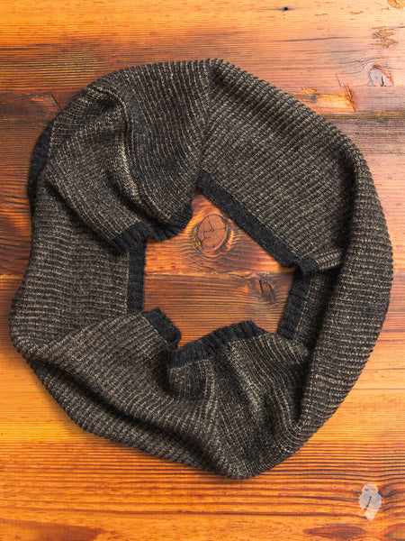 Mohair Infinity Scarf in Brown
