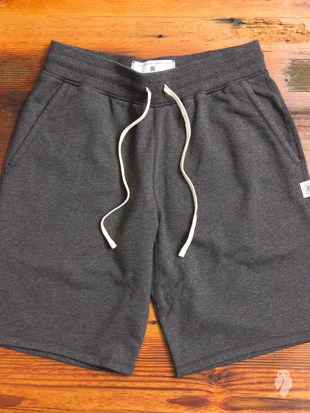 Sweatshort in Heather Charcoal