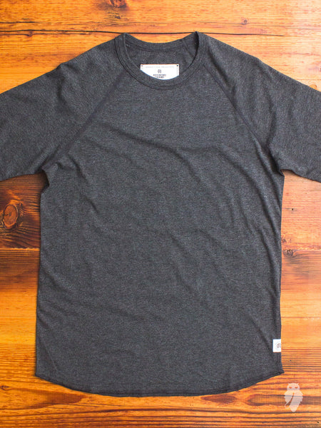 Raglan Sleeve T-Shirt in Heather Charcoal
