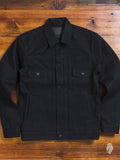 "BOM011 ""Momotaro x Blue Owl"" 15.7oz Black Selvedge Denim Jacket"