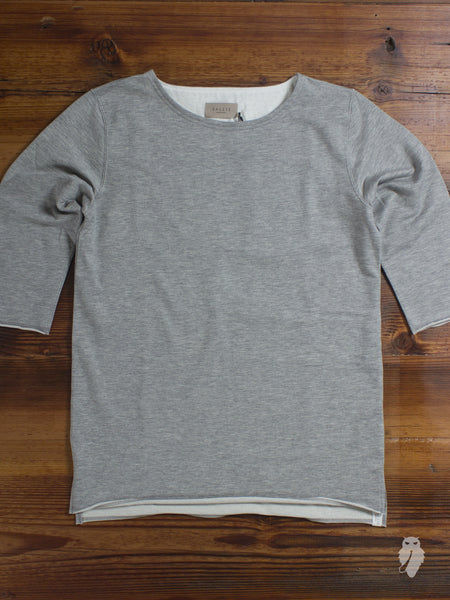 """Vallis"" 3/4 Sleeve T-Shirt in Heather Grey"