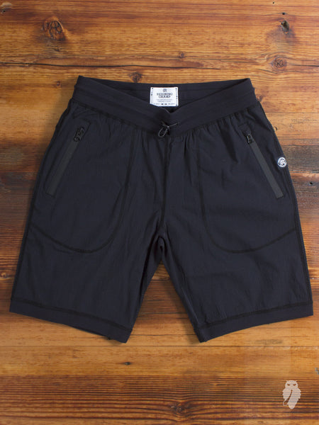 Stretch Nylon Short in Black