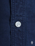 Linen Button Down Shirt in Washed Indigo